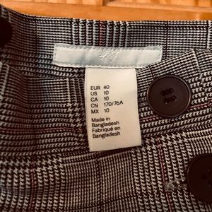 H&M Skirts - H&M check pencil skirt. Nwot.